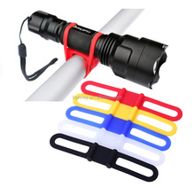 Bicycle Headlight Mount Holder Bandage Cycling Sports Ties Strap Band Silicone Band Strap Torch FlashLight Phone Tie