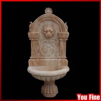Natural Stone Carved Outdoor Wall Antique Water Fountain