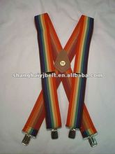 american fabric canvas rainbow cotton suspenders YJ-SP015