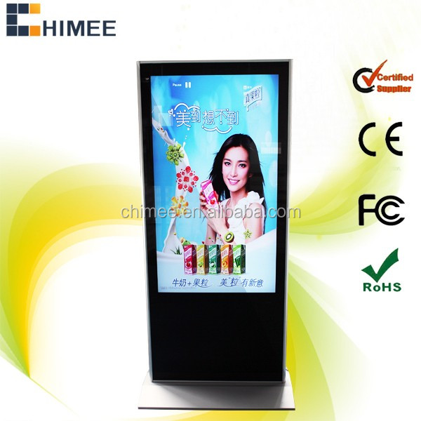 55 inch free stand advertisements LCD Multimedia Player (21.5inch to 65inch Super Slim Design)