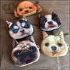 Custom Lifelike 3D Animal Face Lion Tiger Leopard Zippered Coin Purse Cute Cat Coin Bag Mini Dog Change Purse