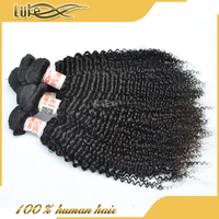 100% Human Bundles Fast Shipping Strong Double Weft Ebony Hair