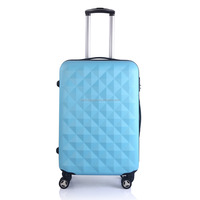 blue suitcases with suitcase parts