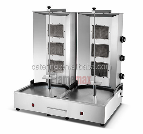 stainless steel shawarma oven for restaurant