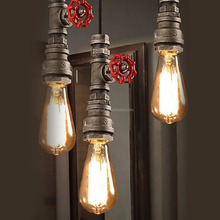 Popular Type Water Pipe Pendant Lights Industrial Loft Lamps for Restaurant Cafe