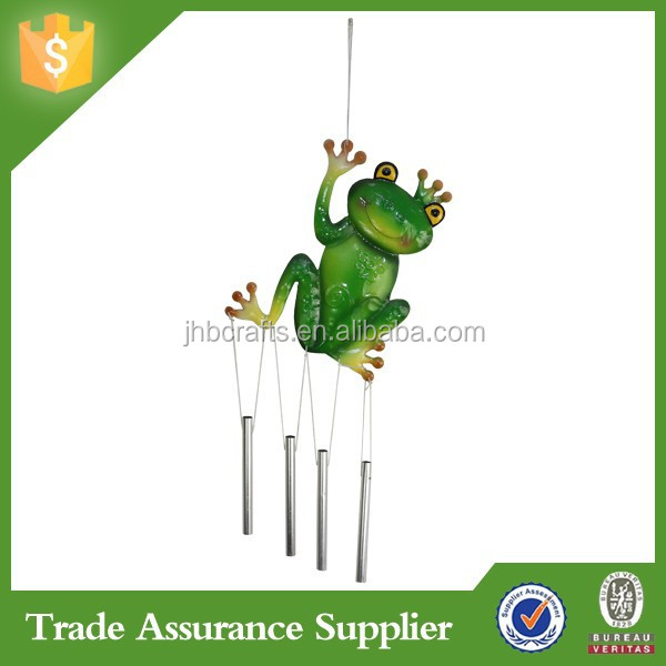 Cute and Colorful Cheap Metal Frog Wind Chimes