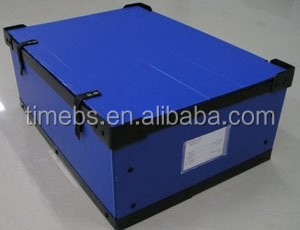 Foldable/Collapsible Coroplast/Corrugated Plastic Sheet Turnover Box