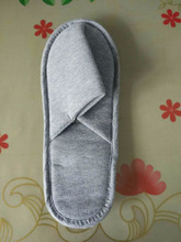 Light Grey Cotton Slippers With Drawstring BagLight Grey Cotton Slippers With Drawstring Bag