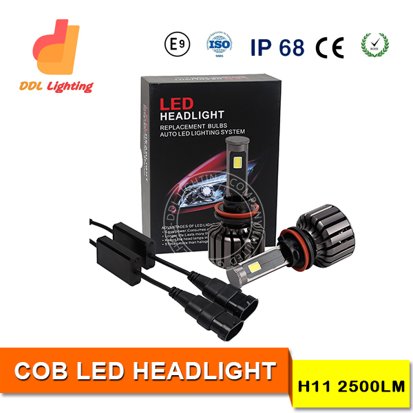 DDL automobiles motorcycles auto 30W H11 car led headlight bulbs waterproof IP 68 H1 H3 H7 H16