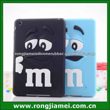 New Cartoon M Character Cute Phiz Silicone Soft Case Cover For Apple ipad mini