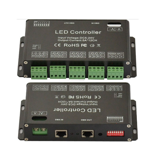 DC5V-24V 12Channel RGB DMX LED controller DMX512 decoder&driver LED strip module