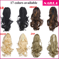 Wholesale 17 colors palm clip ponytail hairpieces claw clip ponytail hair extensions
