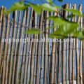 Natural woven willow fence for plant grow