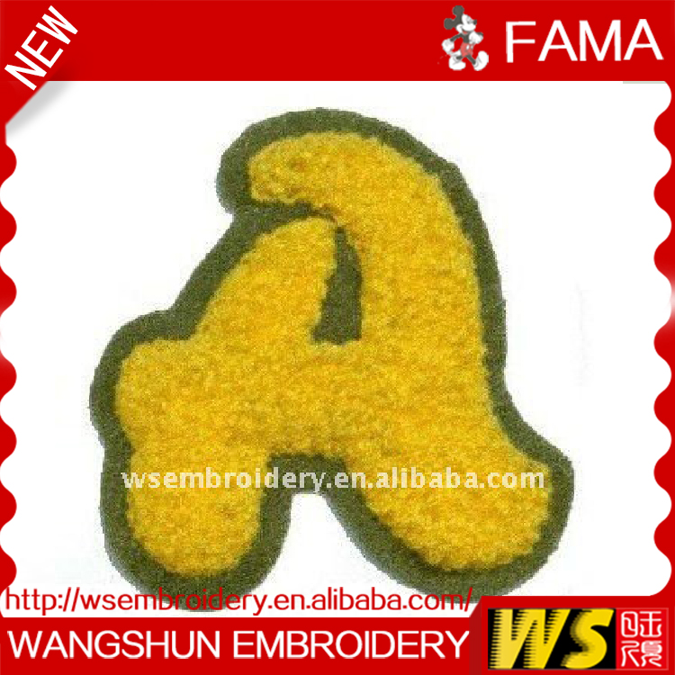 Wholesale Fashion Design Sew on Embroidery Letters Chenille Letters