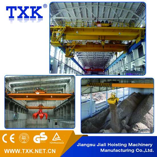 double girder overhead crane garbage grab crane for sale