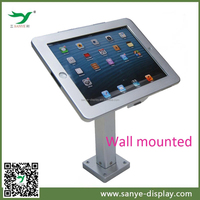 promotion 360 degree rotating aluminum metal tablet wall case