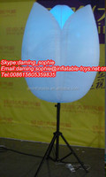 2016 advertising/decoration led tripod balloon,inflatable led stand light balloon