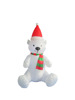 120cm/4ft Inflatable sitting polar bear with scarf and hat for christmas decoration