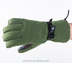 Wholesale Waterproof leather palm High quality touch screen thinsulate ski gloves