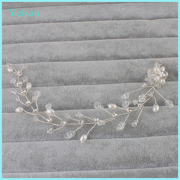 Wholesale wedding jewelry bridal hair accessories fancy crystal girl headband