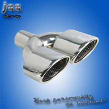 JZZ dual exhaust universal motorcycle 2.5 inch dual oval muffler tips custom exhaust pipes for bmw