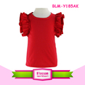 Sassy Baby Girls Cute Flutter Sleeve Shirt 0-12Y Cotton Red Toddler Flutter Tank Top