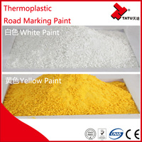 Thermoplastic road powder coating paint