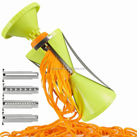 For Amazon Sellers New Removable 4 Blade Spiral slicer Kitchen Spiralizer