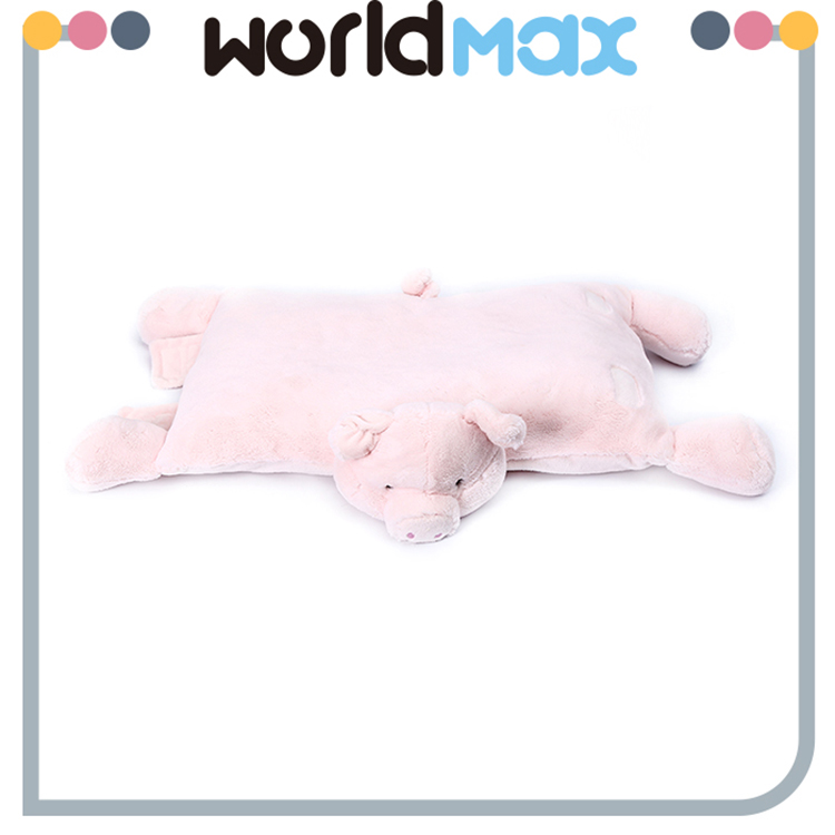Good Quality OEM Custom Pink Pig Plush Baby Blanket Toy