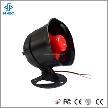 2016 black metal shell speaker horn for truck, electric digital car horn