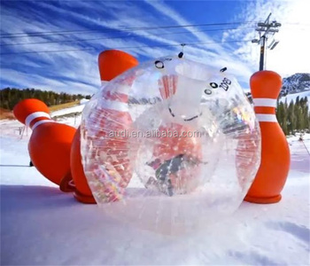 Commercial Inflatable Human Bowling Game Hamster Ball For Sale