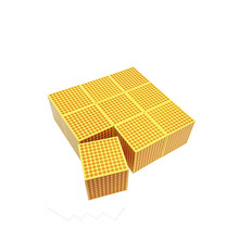 Big Promotion educational montessori math Toy Nine Wooden Thousand Cubes