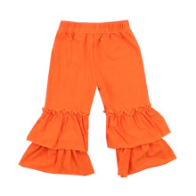 wholesale boutique girls 3/4 cotton pants baby kids leggings toddler bottom ruffle pants