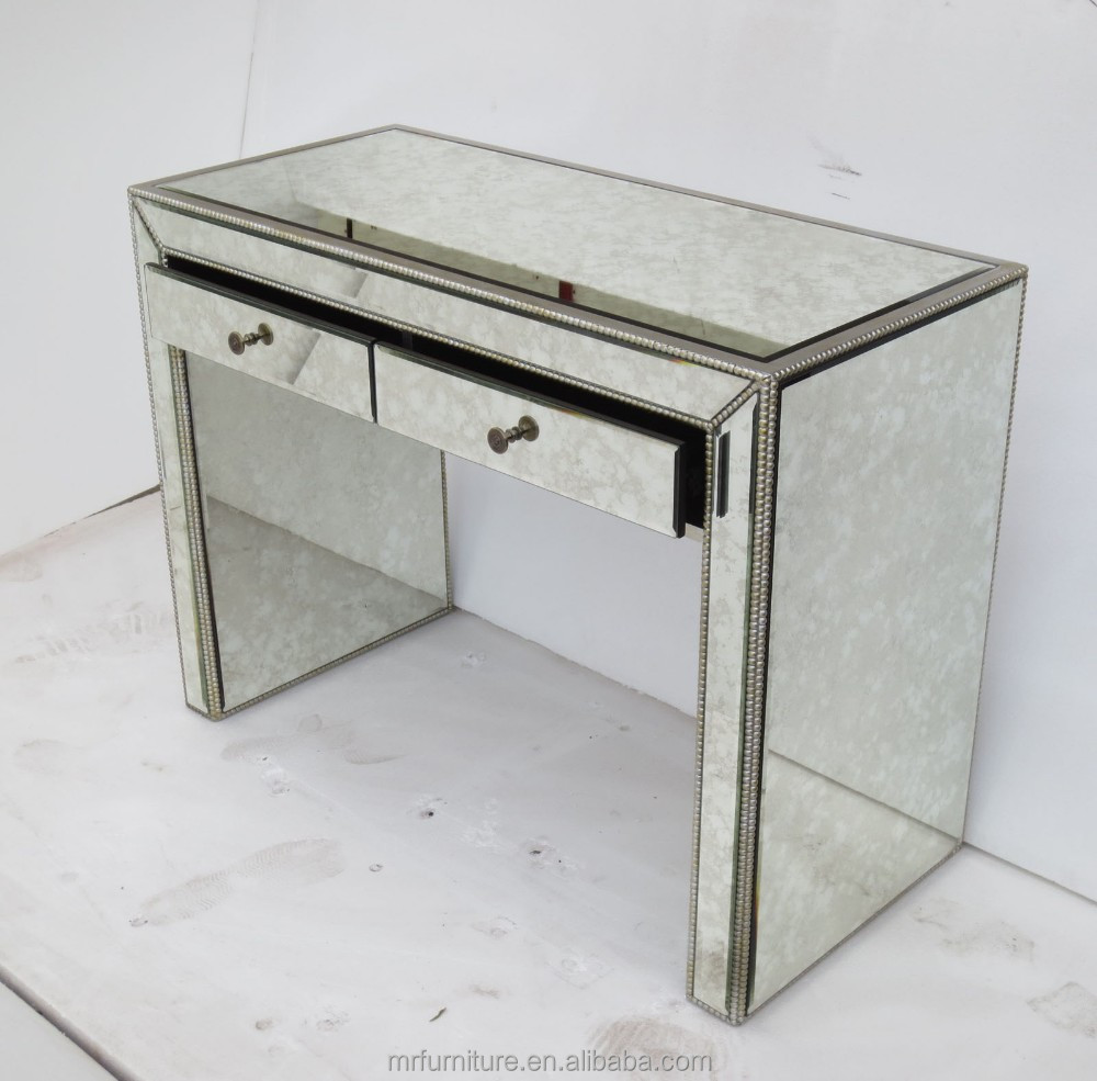maci antique argent miroir table de console avec tiroir. Black Bedroom Furniture Sets. Home Design Ideas