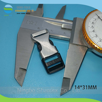 10mm inner size glossy half metal have plastic side release buckle for bag parts and accessories