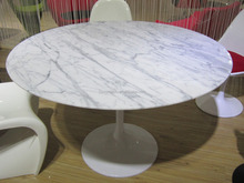 Round White Marble Top Dining Table, Stone Top Dining Tables, Rectangular Marble Top Dining Table CT-605