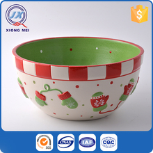 Creative large capacity chinese soup bowls with colorful hand painted