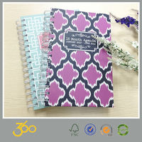 good quality handmade spiral notebook a5,hard cover notebook printing