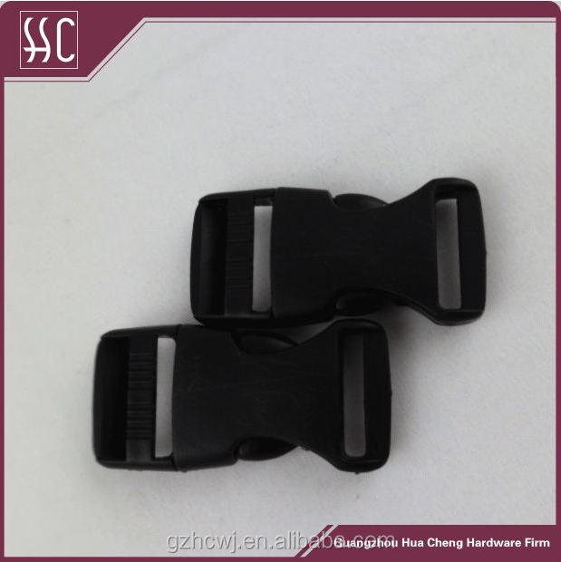 Mutipurpose black plastic buckle safety buckle for seat belt or bag
