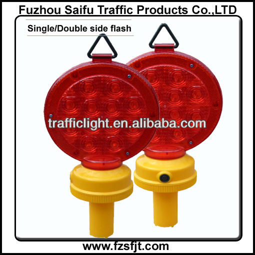 Red led traffic warning lighting for road construction