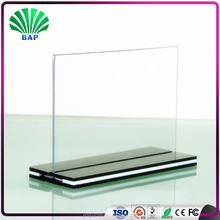 Clear Acrylic Sign Holder Transparent acrylic swivel gift card display stand