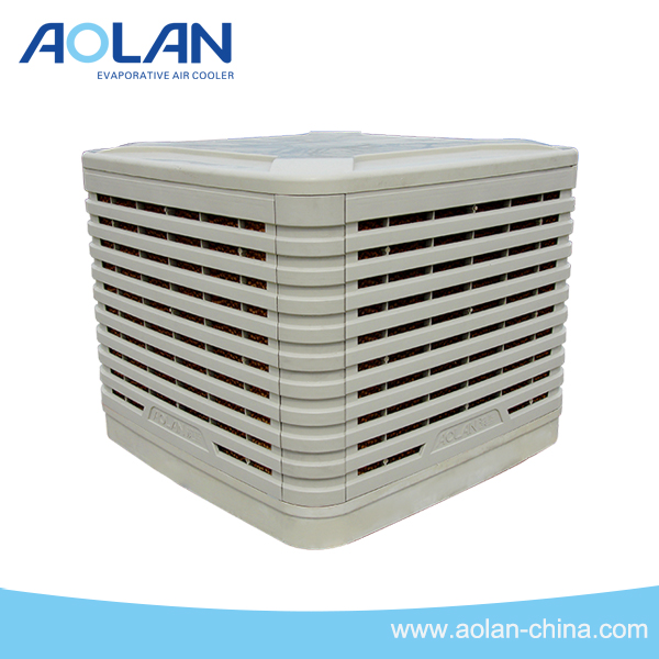 airflow 16000m3/h roof install evaporative air cooler down discharge