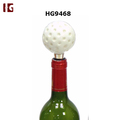 Sport Style Home Decoration Golf Ball Metal Wine Bottle Stopper