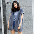 CX-G-B-15F Fashion Lady Outdoor Waistcoat Woman Real Fox Fur Vest