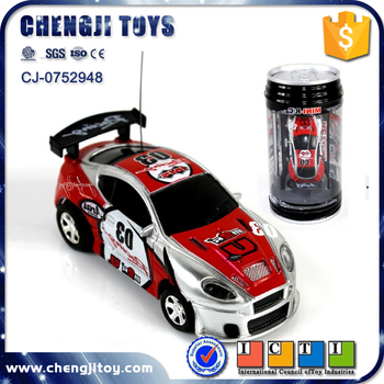 Electric powerful metal racing drift cars toy coke can mini rc car