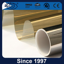 Gold Silver Decorative building glass film covering with high UV protection and heat resistant