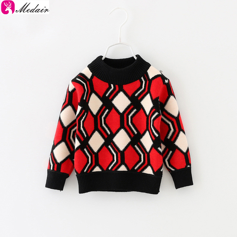 Wool Knitted Sweater Design for Baby Kids Clothes Child Sweater With Cartoon Mickey Fashion Checked Sweaters
