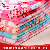 Super soft various color new arrival printed coral fleece fabric