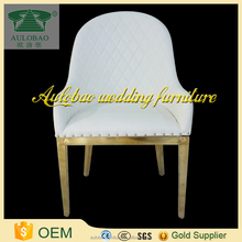 International fashion metal frame oval back dining chair with arm
