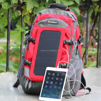 modren 6.5W sunpower solar backpack for traveller and camping